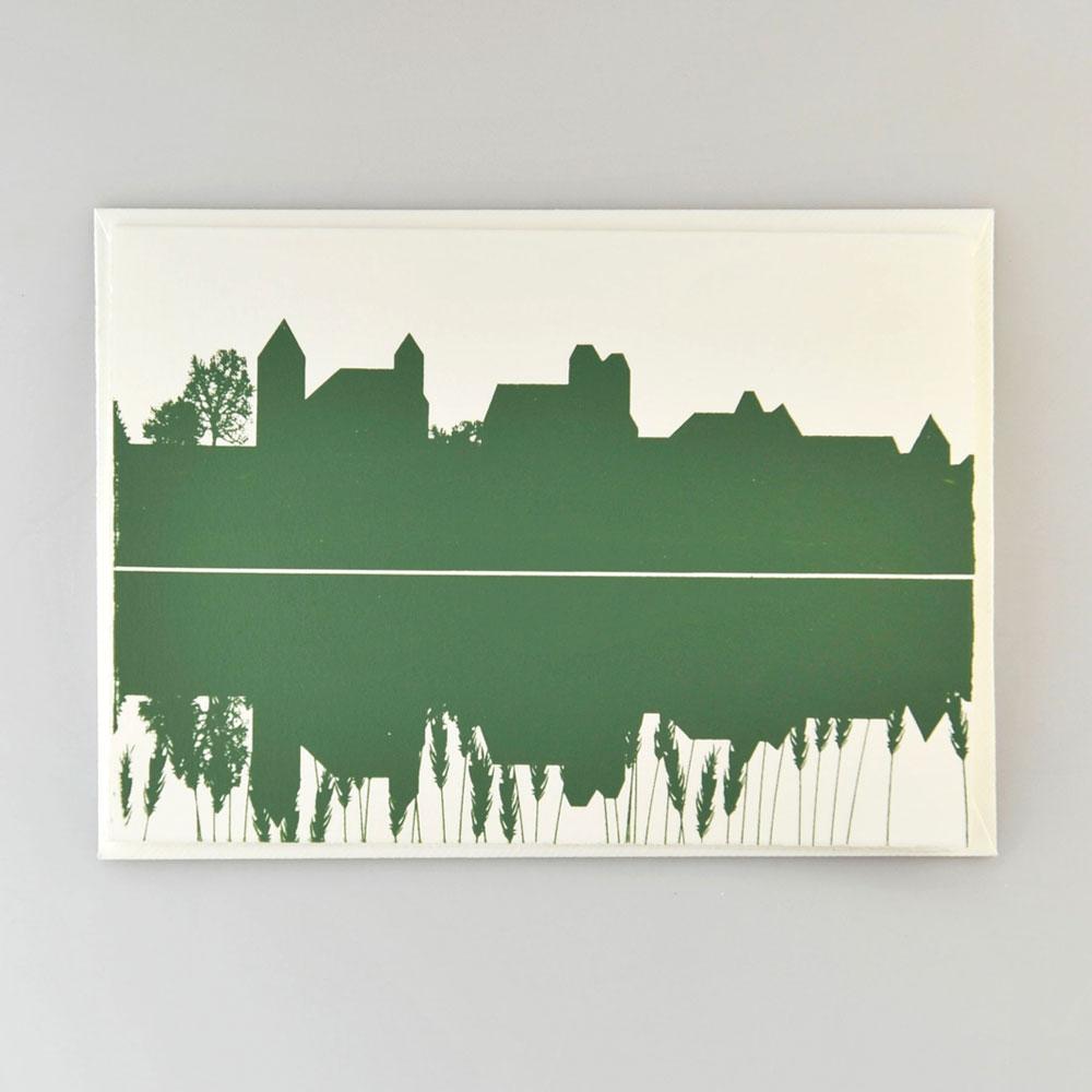 Karte Schloss dunkelgrün