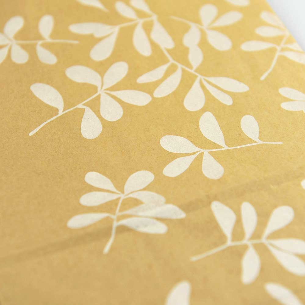 Adventskalendertüten Blätter weiss