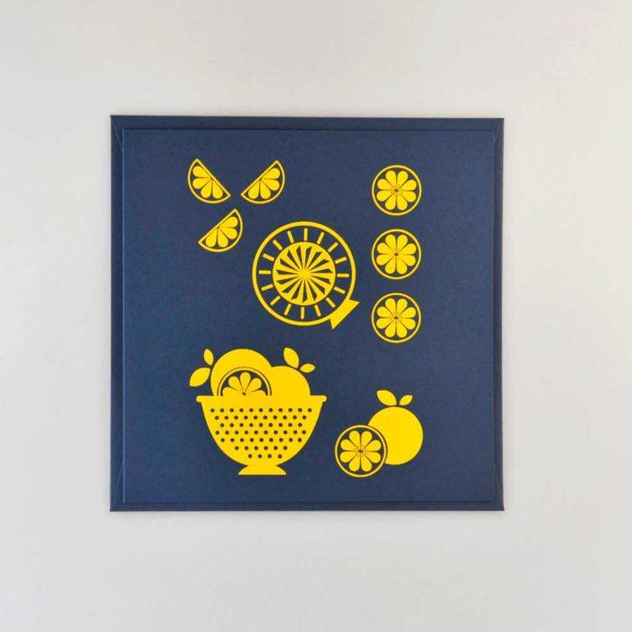 Karte Zitronen