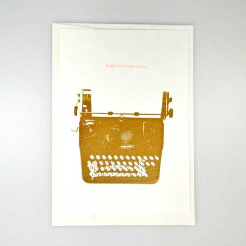 Karte Schreibmaschine