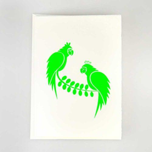 Karte Zwei Papageien